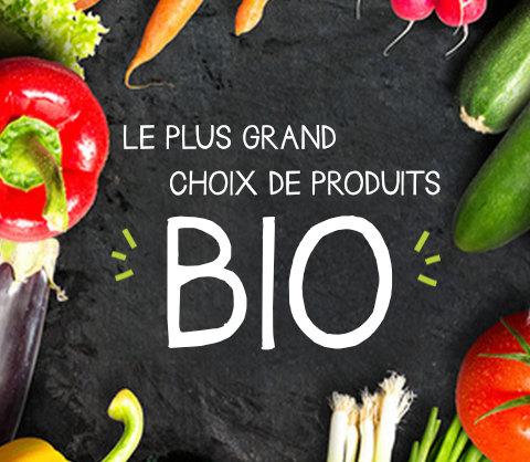Le plus grand choix de produits bio
