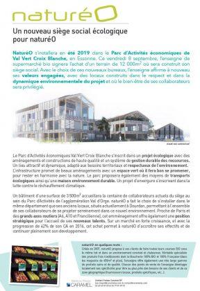 Catalogue produits bio COMMUNIQUE DE PRESSE : NOUVEAU SIEGE SOCIAL