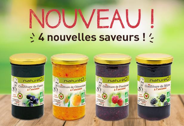 Nouvelles saveurs de confitures naturéO!