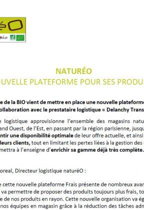 Catalogue produits bio COMMUNIQUE DE PRESSE : Nouvelle plateforme frais