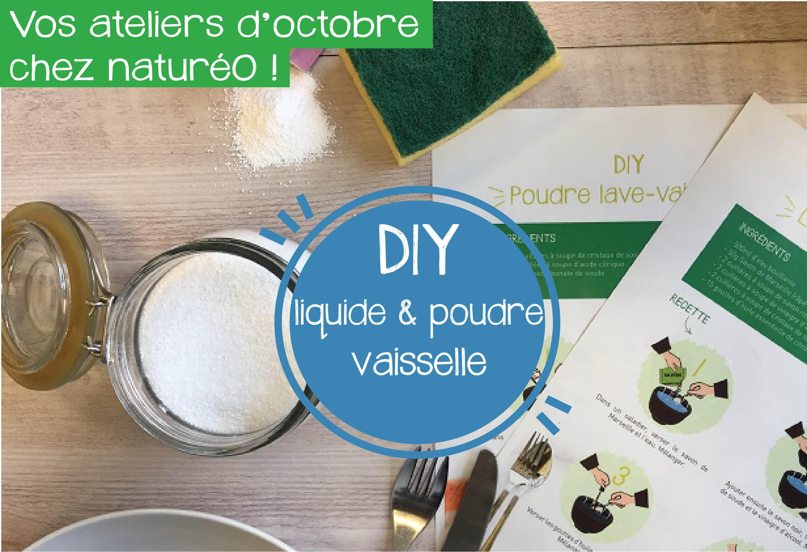 DIY OCTOBRE : liquide et poudre vaisselle